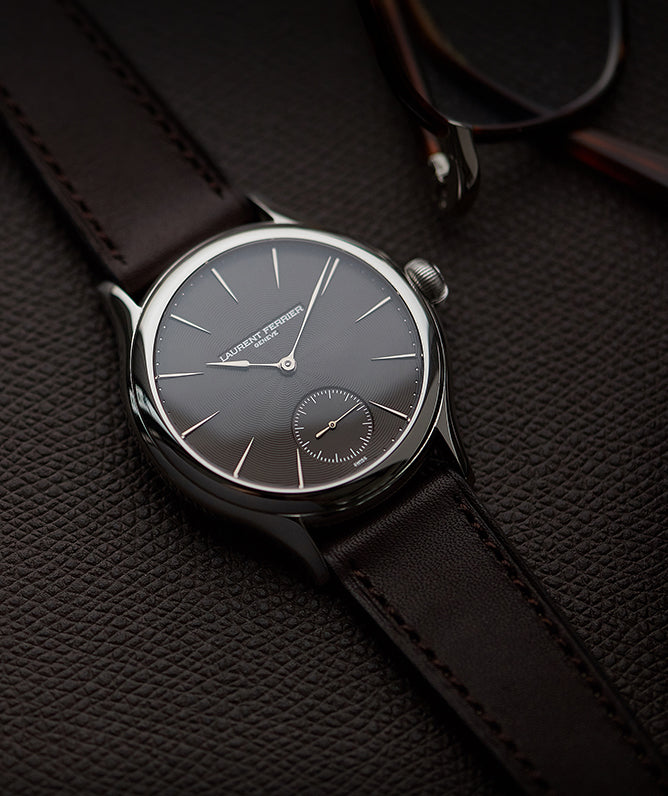 "piece unique Laurent Ferrier Prototype Galet Micro-rotor LF 229.01 ""Only Watch 2011"" steel watch brown dial for sale online at A Collected Man London UK approved seller of independent watchmakers"