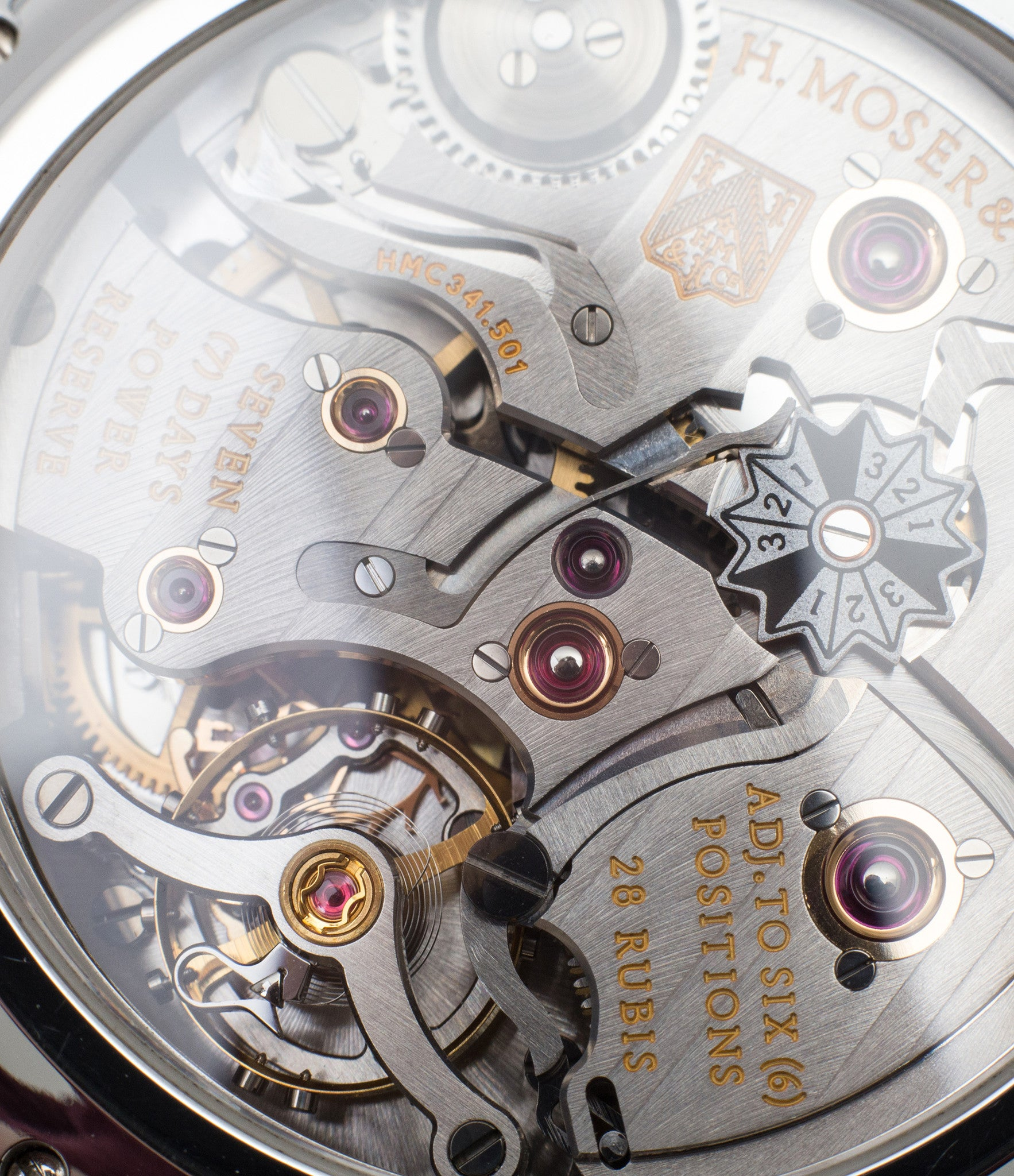 movement H. Moser & Cie. Perpetual Calendar 1341 platinum preowned watch at A Collected Man