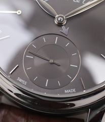 Swiss-made independent watch H. Moser & Cie. Perpetual Calendar 1341 platinum preowned watch at A Collected Man