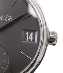 quick change flash date H. Moser & Cie. Perpetual Calendar 1341 platinum preowned watch at A Collected Man