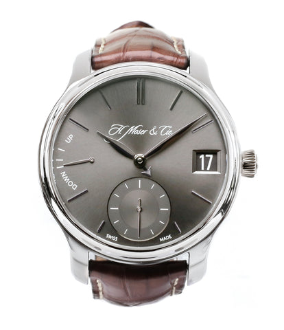 buy H. Moser & Cie. Perpetual Calendar 1341 platinum preowned watch at A Collected Man