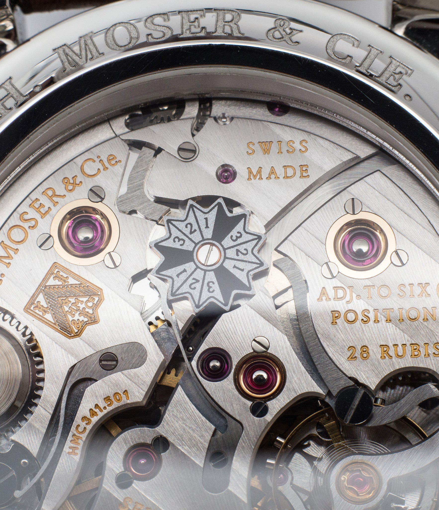 leap year indicator movement H. Moser & Cie. Perpetual Calendar 1341 platinum preowned watch at A Collected Man