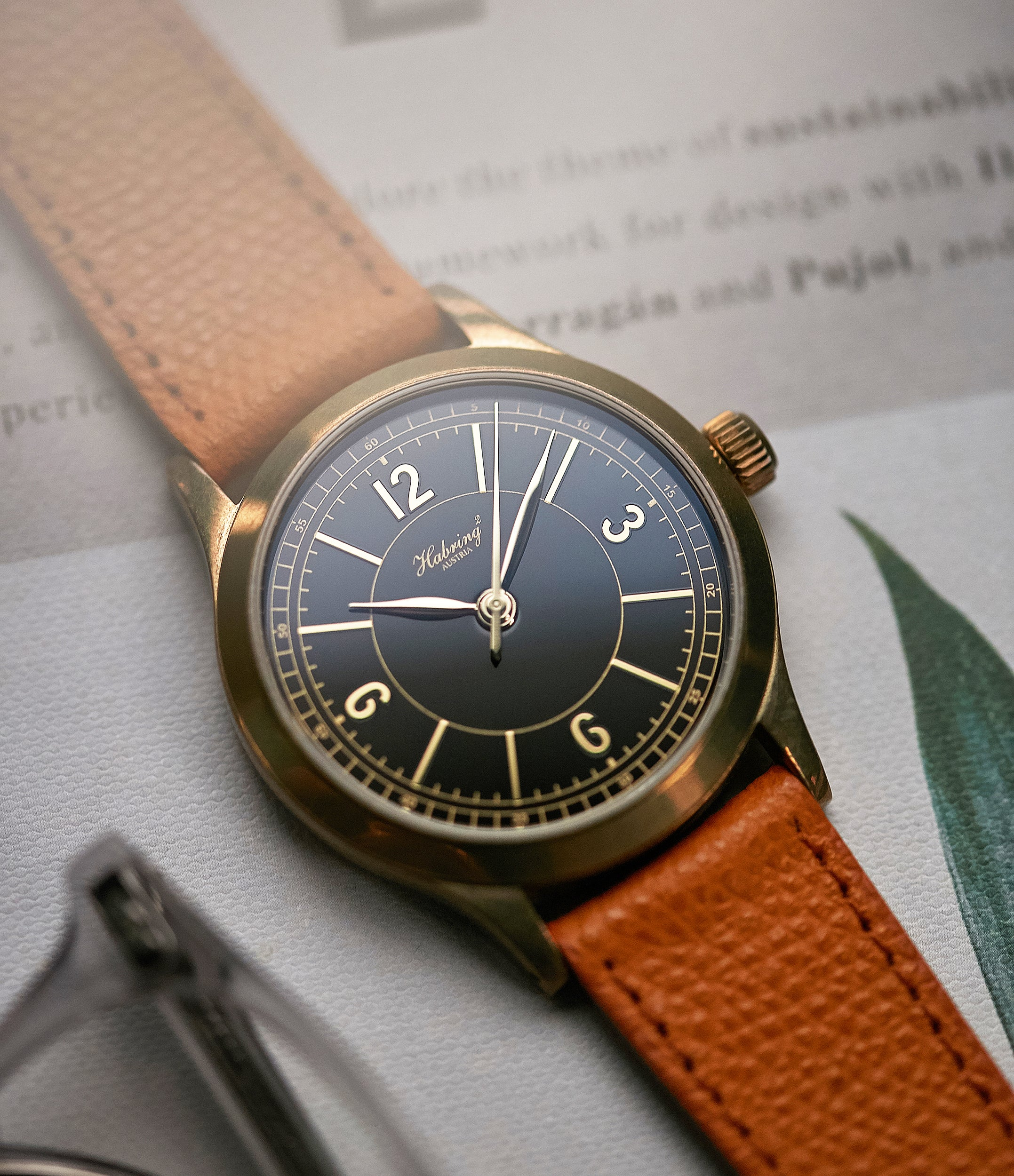 selling Habring2 Erwin LAB 01 Massena LAB Limited Edition bronze independent watchmaker dress watch for sale online at A Collected Man London UK rare watches