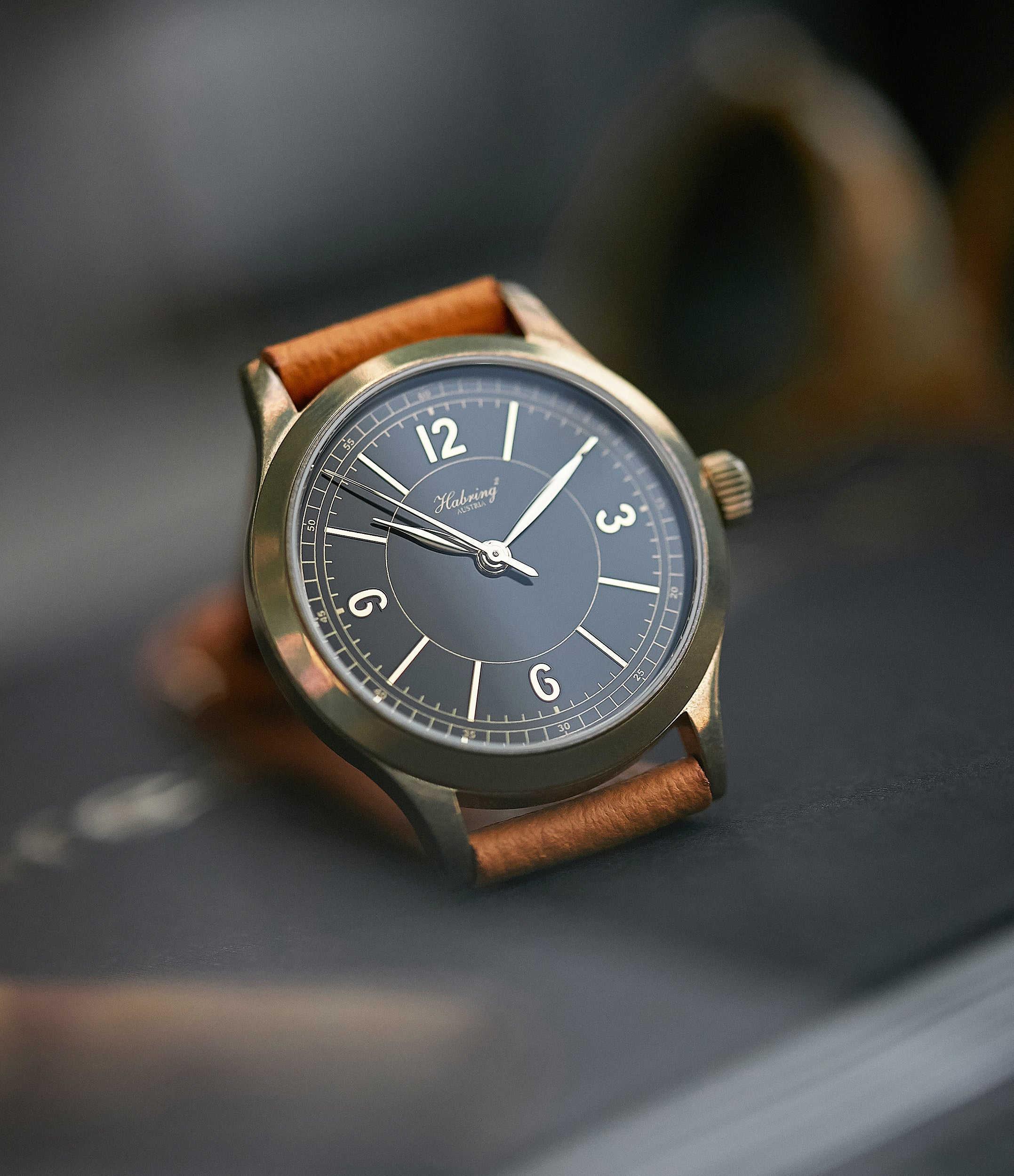 shop Habring2 Erwin LAB 01 Massena LAB Limited Edition bronze independent watchmaker dress watch for sale online at A Collected Man London UK rare watches