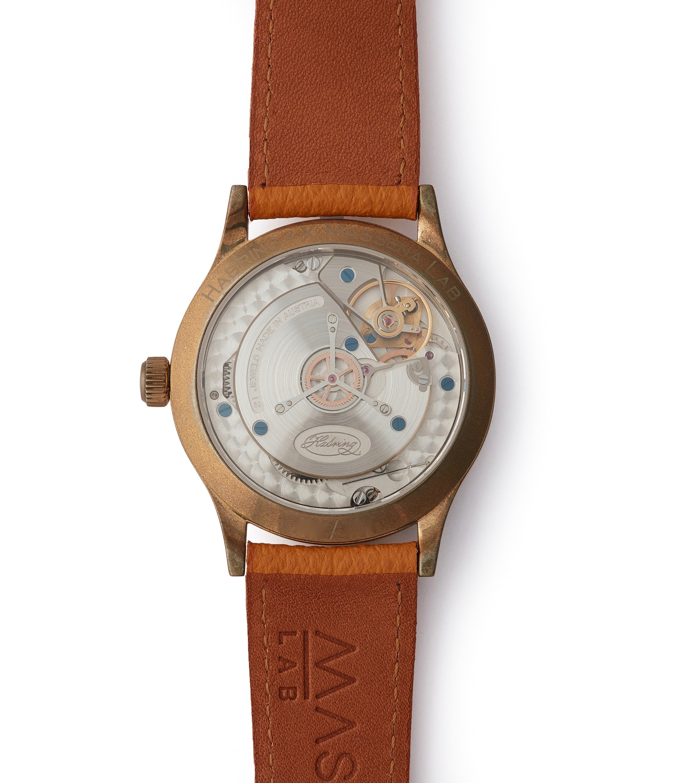 in-house movement Habring2 independent watchmaker Erwin LAB 01 Massena LAB Limited Edition bronze dress watch for sale online at A Collected Man London UK rare watches