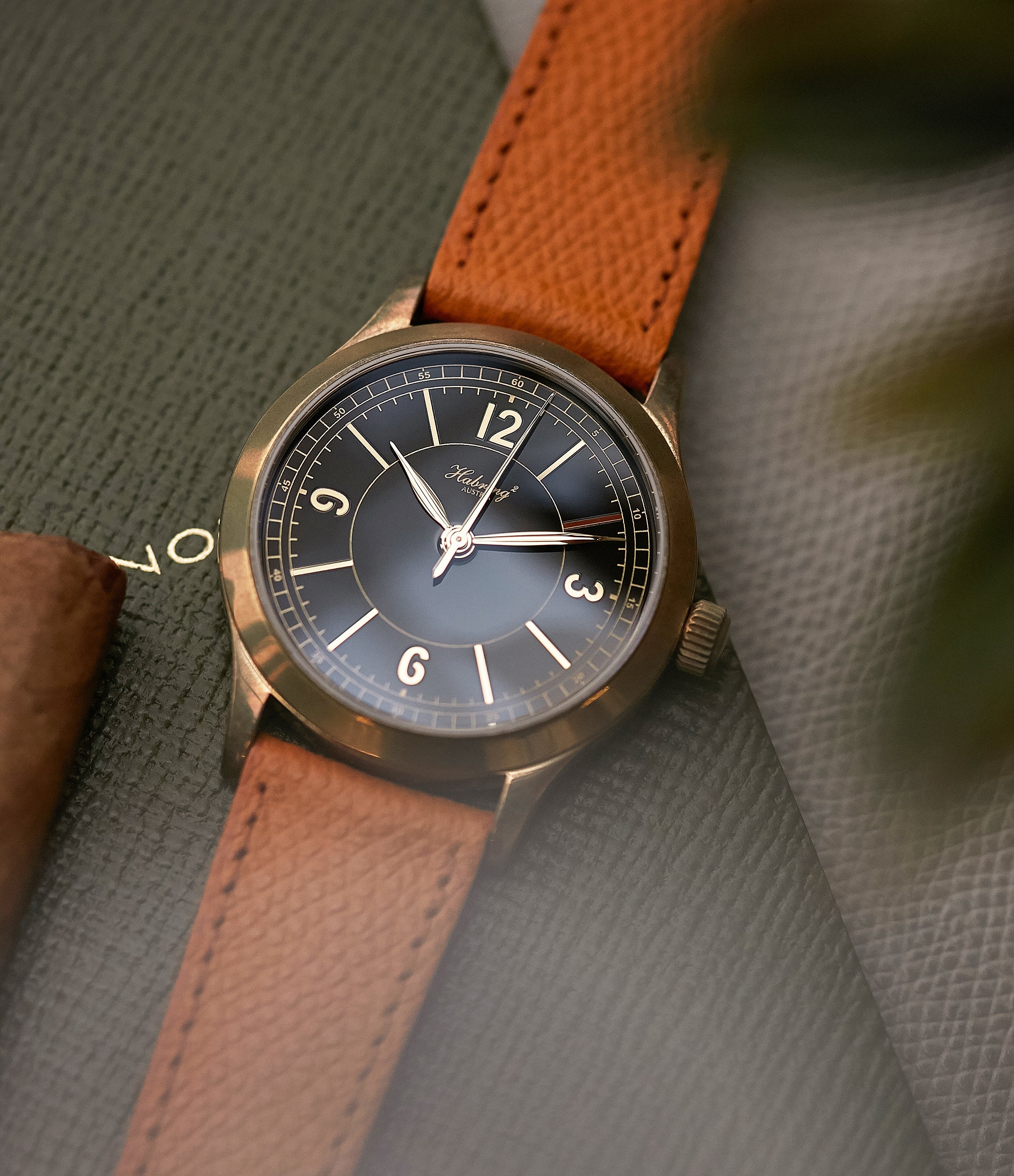 William Massena LAB Habring2 Erwin LAB 01 Limited Edition bronze independent watchmaker dress watch for sale online at A Collected Man London UK rare watches