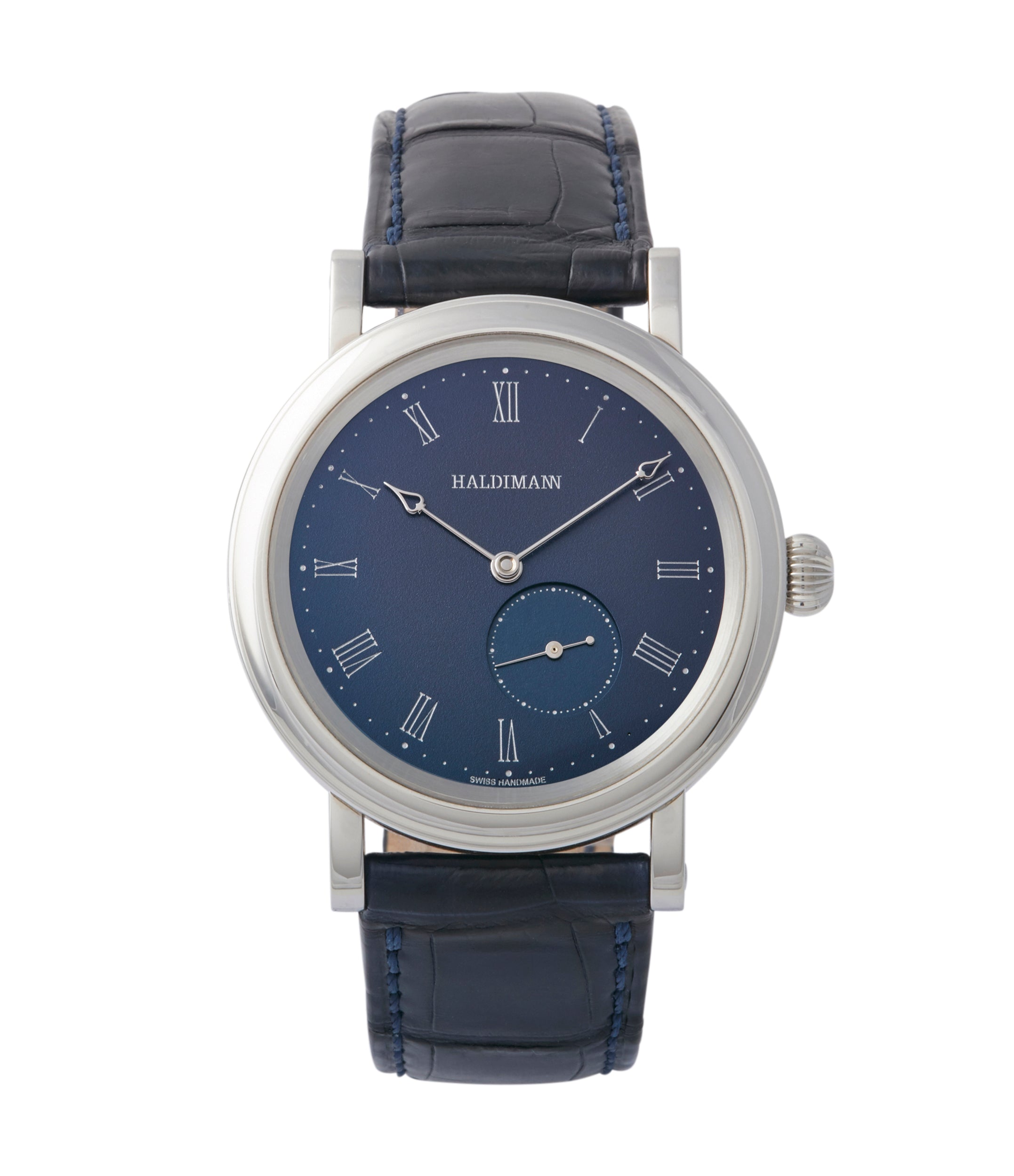 buy Haldimann H12 blue dial time-only dress watch independent watchmaker for sale online A Collected Man London British specialist rare watches