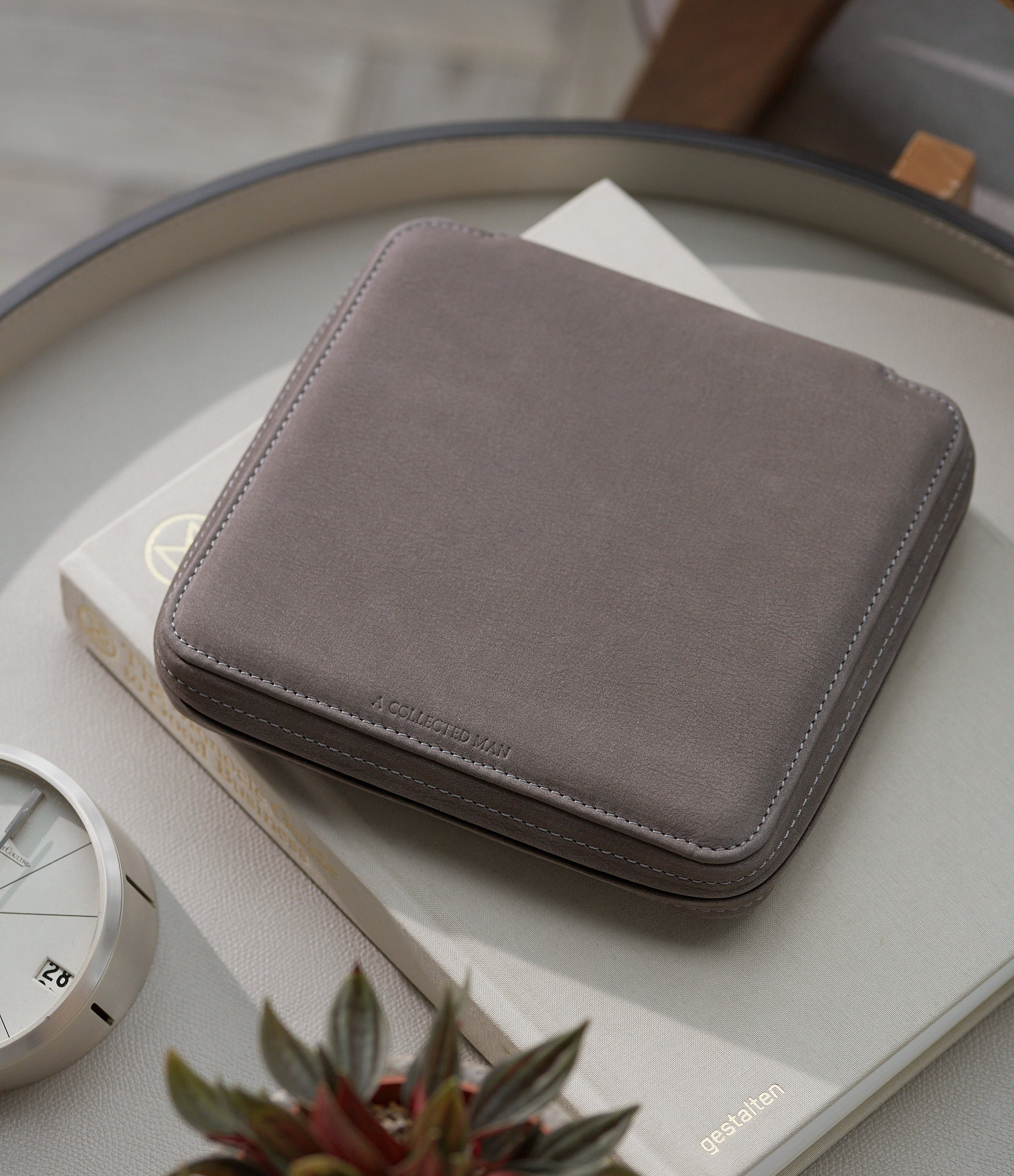 six-watch grey nubuck watch travel zip pouch holder 6 watches order online A Collected Man London