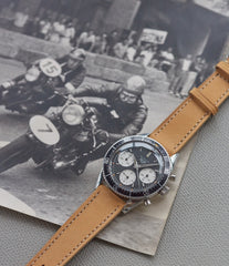 men's rare  racing watch chronograph Heuer Autavia 2446 Second Execution Valjoux 72 rare first-owner steel sport watch for sale online at A Collected Man London UK rare watch specilaist