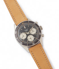 selling vintage Heuer Autavia 2446 Second Execution Valjoux 72 rare first-owner chronograph steel racing sport watch for sale online at A Collected Man London UK rare watch specilaist