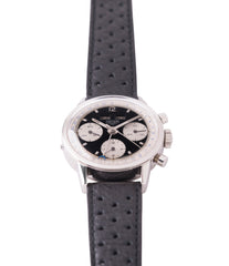 shop vintage Heuer Carrera 2546NS Dato 12 panda dial triple calendar chronograph most complicated Heuer watch for sale online at A Collected Man London UK specialist of rare watches