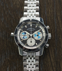 selling vintage Heuer Abercrombie & Fitch Seafarer 2446C SF rare chronograph watch for sale online at A Collected Man London UK specialist of rare vintage watches