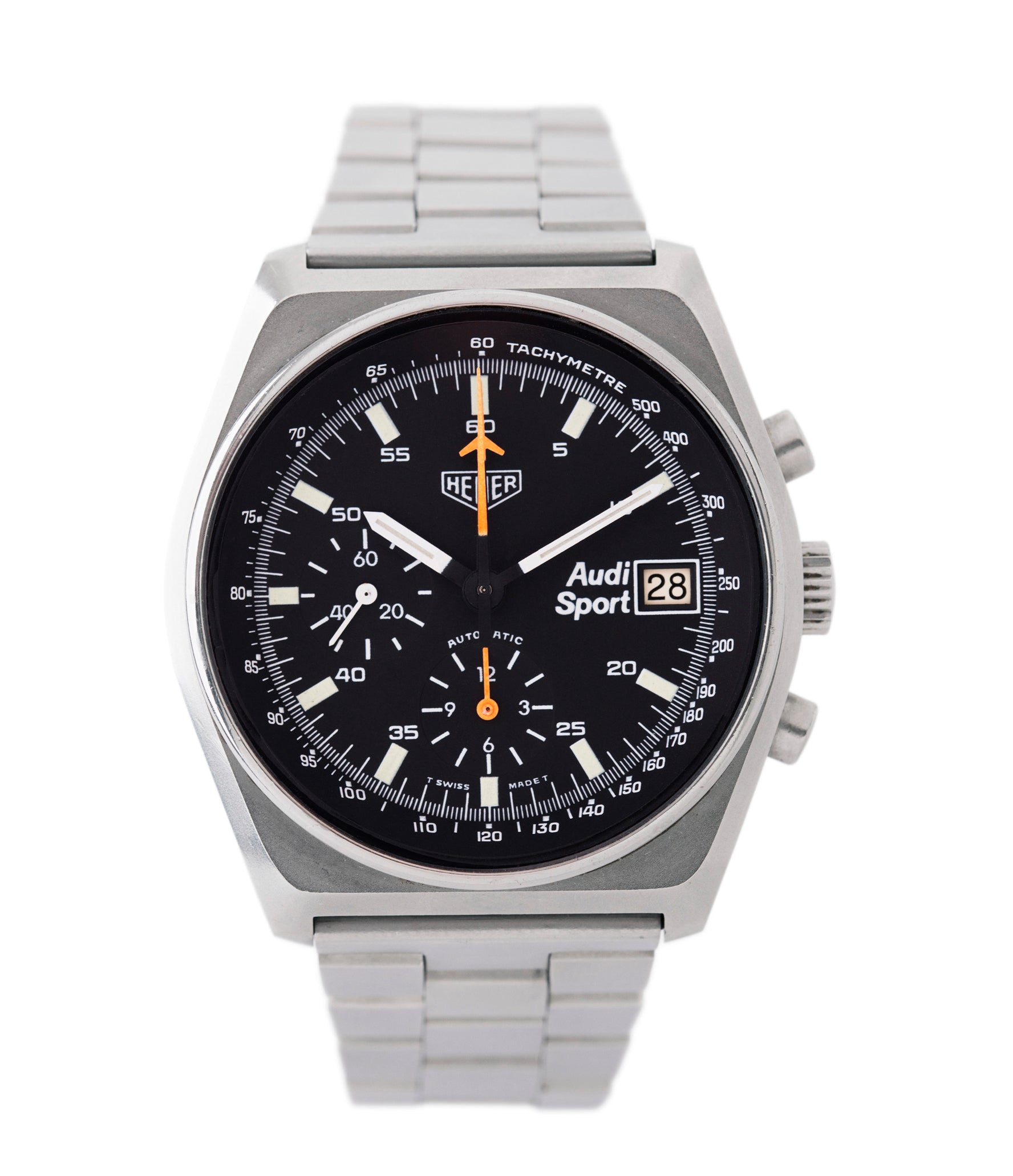 buy vintage Heuer Sport Audi 510.533 steel chronograph watch for sale online at A Collected Man London UK specialist of rare vintage watches