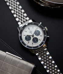 Heuer Autavia 2446 C SN silver dial rare vintage chronograph test dial Valjoux 72 watch