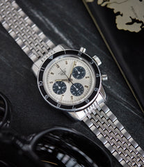 vintage Heuer Autavia 2446 C SN silver dial rare chronograph test dial racing Valjoux 72 watch