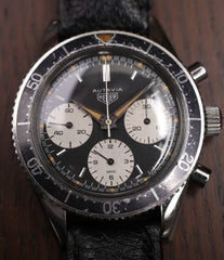 buy vintage Heuer Autavia Rindt 2446 steel chronograph sports watch for sale online at A Collected Man Londonbuy Heuer Autavia 2446 second execution vintage steel chronograph watch online at A Collected Man London