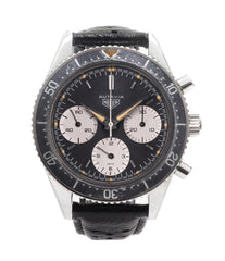 buy Heuer Autavia 2446 second execution vintage steel chronograph watch online at A Collected Man London