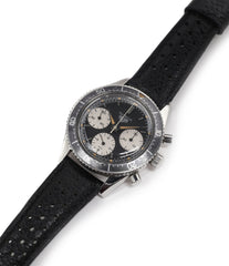 buy vintage Heuer Autavia 2446 second execution steel chronograph watch online at A Collected Man London
