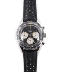 selling Heuer Autavia 2446 second execution vintage steel chronograph watch online at A Collected Man London