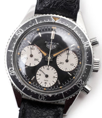 selling vintage Heuer Autavia 2446 second execution vintage steel chronograph watch online at A Collected Man London