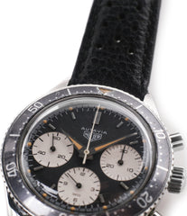 vintage chronograph buy Heuer Autavia 2446 second execution vintage steel chronograph watch for sale online at A Collected Man London