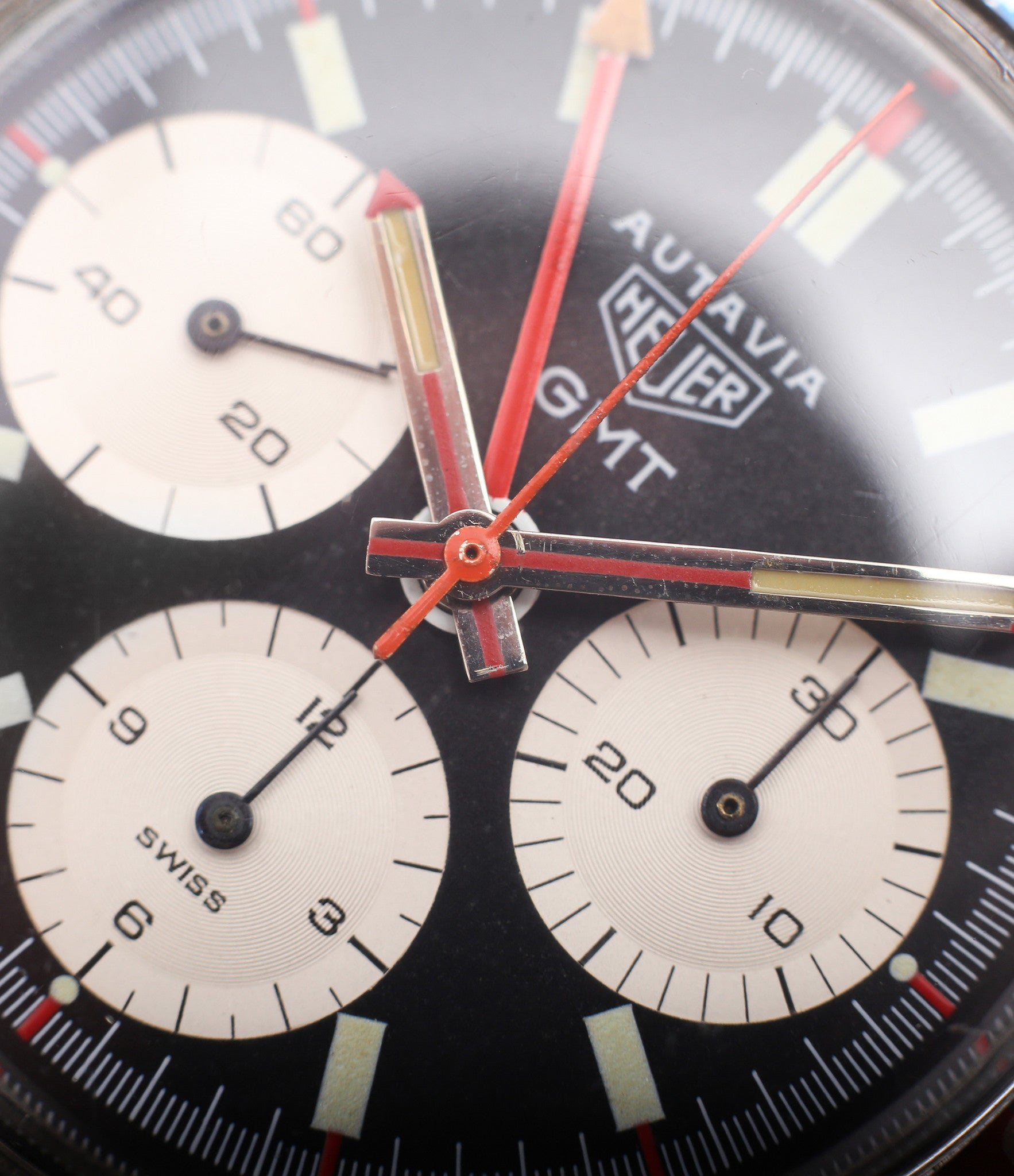 selling Heuer Autavia GMT 2446C vintage steel chronograph watch online at A Collected Man London