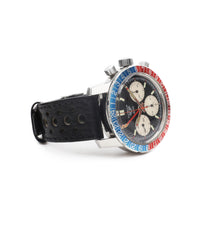 selling Heuer Autavia GMT 2446C vintage steel chronograph wristwatch online at A Collected Man London