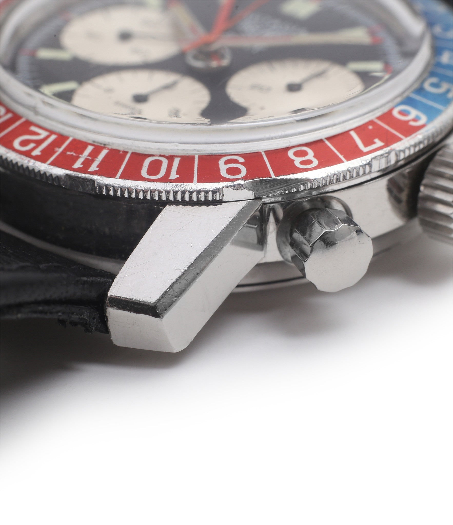 lugs Heuer Autavia GMT 2446C vintage steel chronograph watch online at A Collected Man London