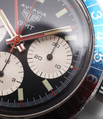 original Heuer Autavia GMT 2446C vintage steel chronograph watch online at A Collected Man London