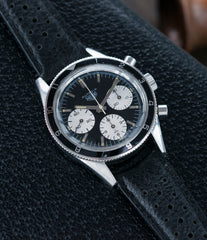 vintage Heuer Autavia Rindt 2446 rare steel chronograph sport racing watch Valjoux 72 movement in London