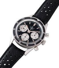 selling vintage Heuer Autavia Rindt 2446 rare steel chronograph sport racing watch Valjoux 72 movement