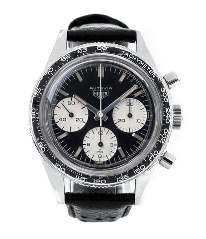 buy Heuer Autavia Rindt 2446 vintage steel chronograph sports watch online at A Collected Man London