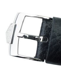 steel vintage Heuer tang buckle for sale online at A Collected Man London UK specialist rare vintage watches