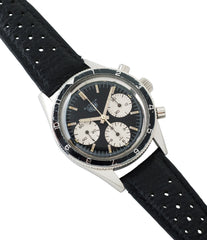 buying Heuer Autavia Rindt 2446 Valjoux 72 manual-winding steel sport chronograph watch for sale online at A Collected Man London UK vintage rare watch specialist