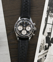 for sale Heuer Autavia Rindt 2446 Valjoux 72 manual-winding steel sport chronograph watch for sale online at A Collected Man London UK vintage rare watch specialist