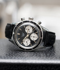 selling Heuer Autavia Rindt 2446 Valjoux 72 manual-winding steel sport chronograph watch for sale online at A Collected Man London UK vintage rare watch specialist