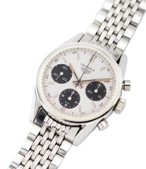 sell Heuer Carrera 2447SND panda dial vintage steel sport watch online at A Collected Man London UK specialist of rare vintage watches
