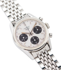 selling vintage Heuer Carrera 2447SND panda dial steel sport watch online at A Collected Man London UK specialist of rare vintage watches
