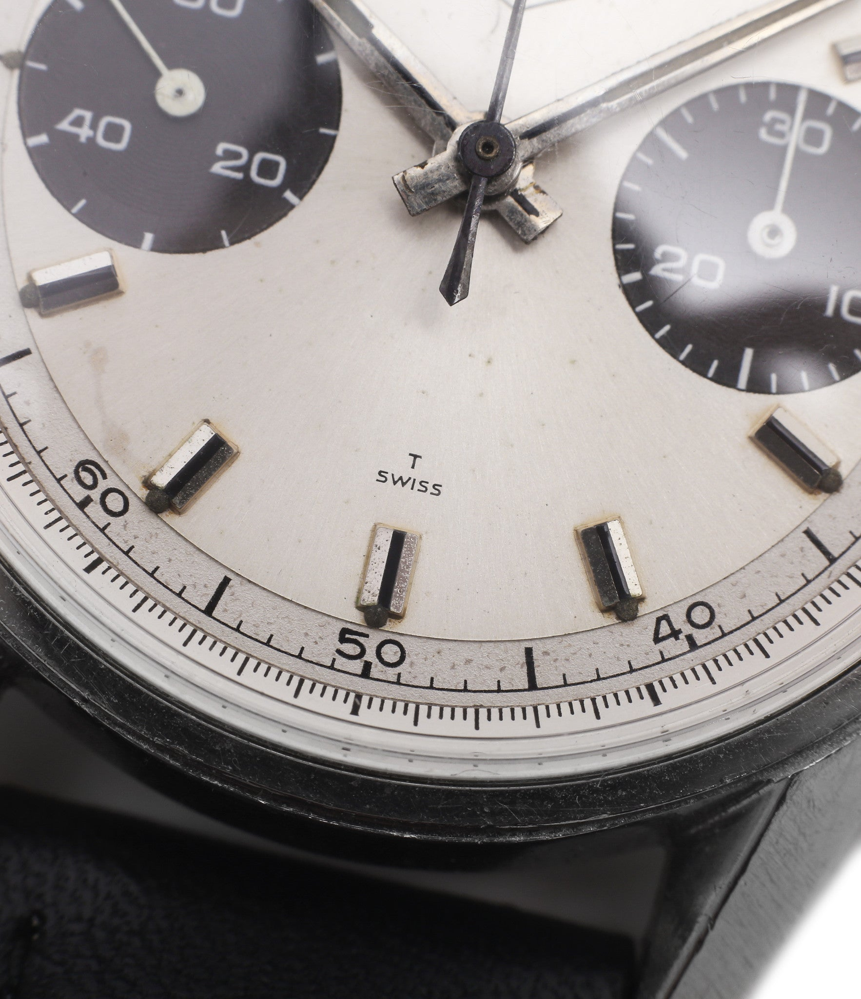 unrestored dial vintage Heuer Carrera 7753SND vintage sports watch panda dial online at A Collected Man