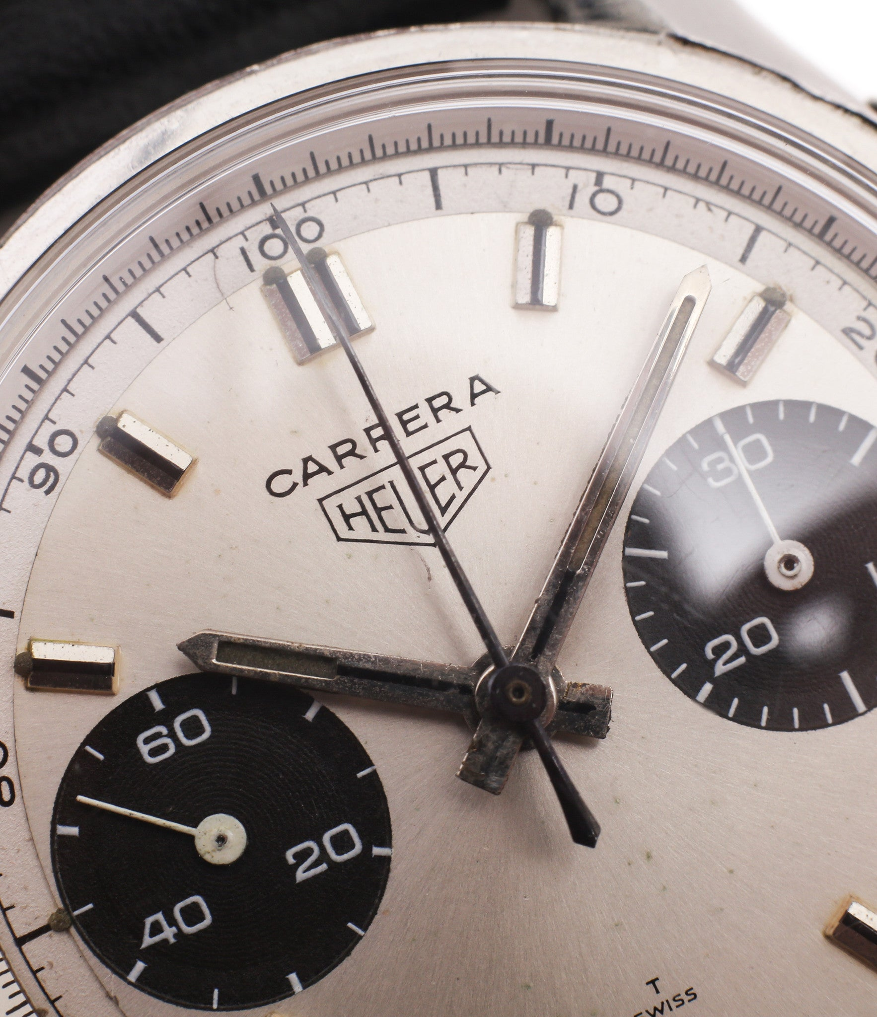 two-register chronograph Heuer Carrera 7753SND vintage sports watch panda dial online at A Collected Man