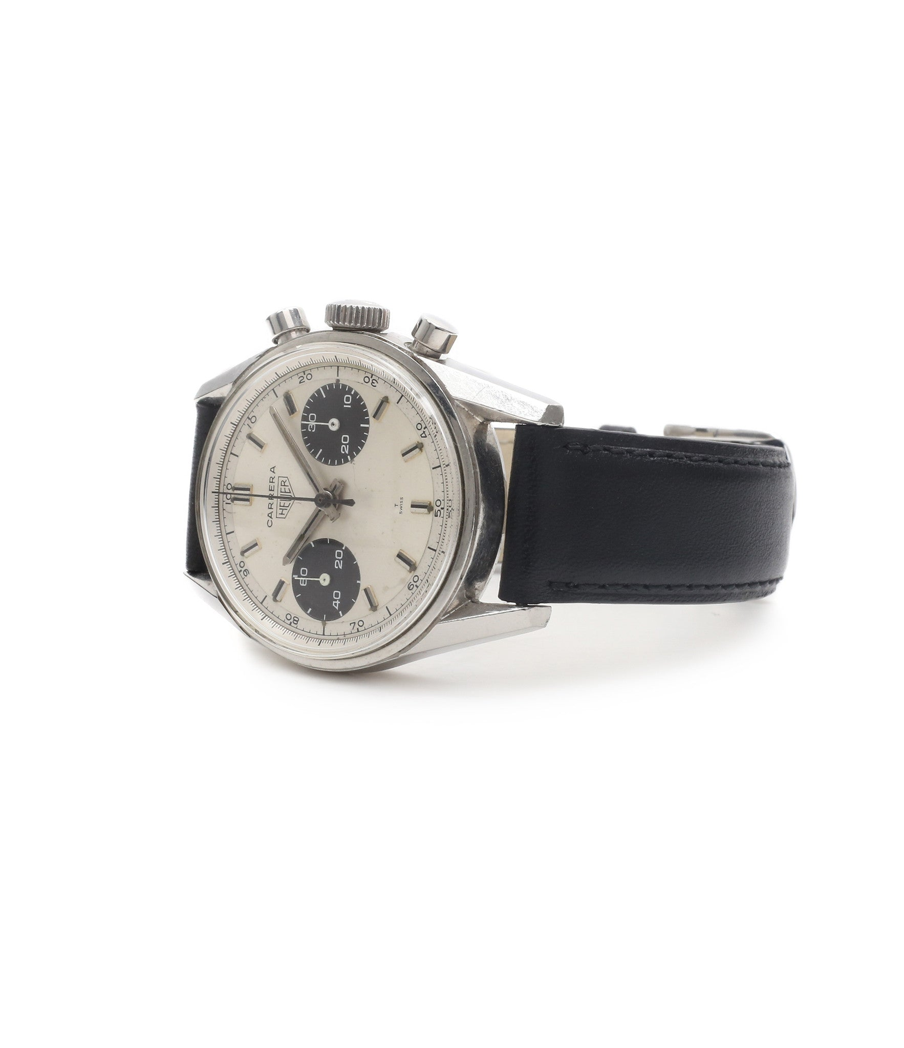 buy vintage watch in London Heuer Carrera 7753SND vintage sports watch panda dial online at A Collected Man