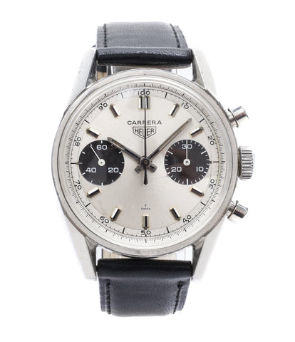 buy Heuer Carrera 7753SND vintage sports watch panda dial online at A Collected Man