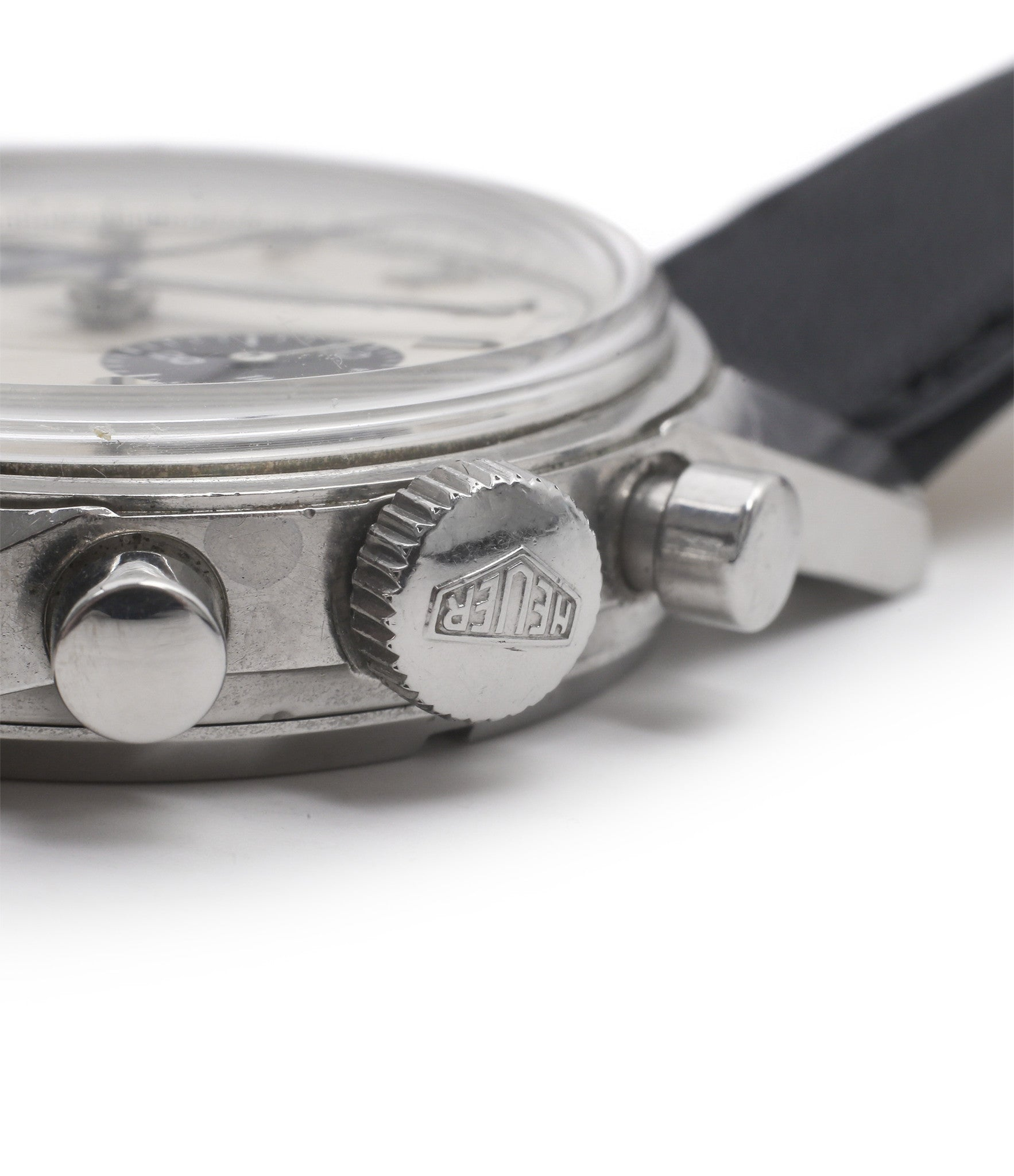 original crown Heuer Carrera 7753SND vintage sports watch panda dial online at A Collected Man
