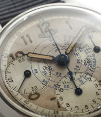 vintage Heuer Chronograph steel watch online at A Collected Man London