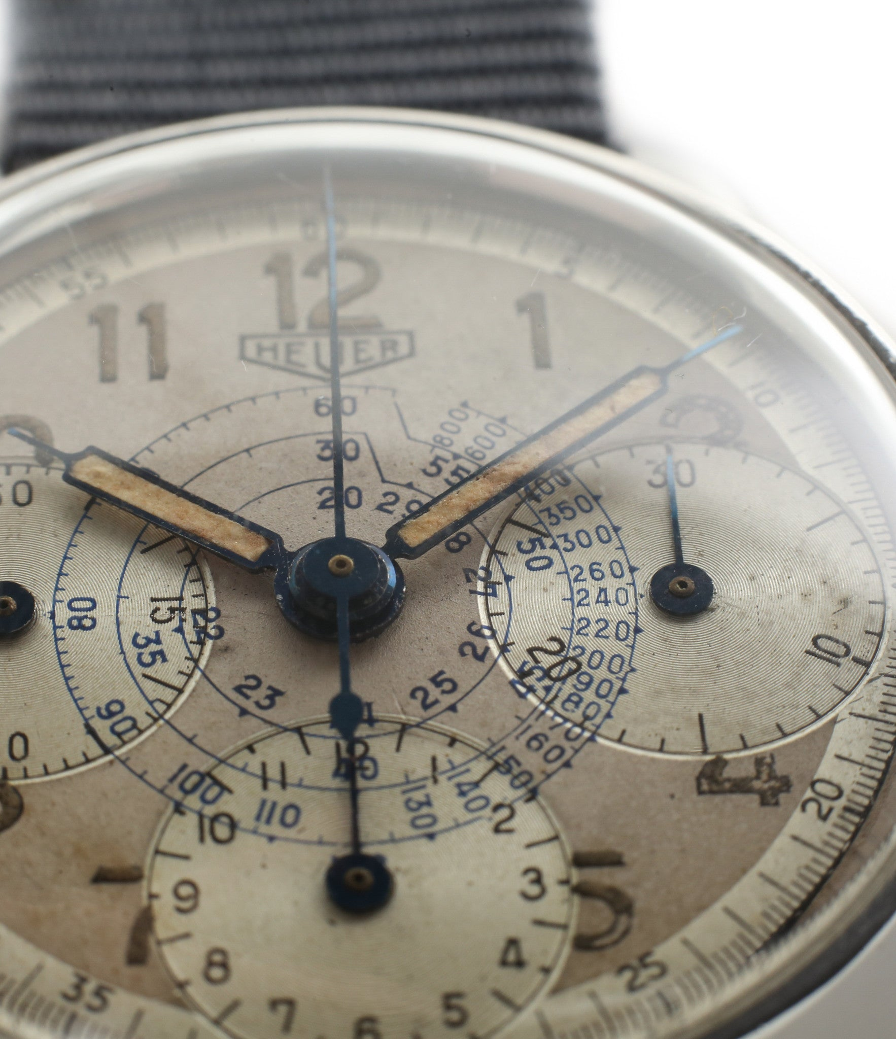 tachymeter vintage Heuer Chronograph steel watch online at A Collected Man London