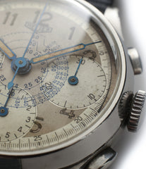 rare vintage Heuer Chronograph steel watch for sale online at A Collected Man London