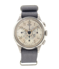 buy vintage Heuer Chronograph steel watch online at A Collected Man London