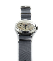vintage Heuer Chronograph steel watch for sale online at A Collected Man London