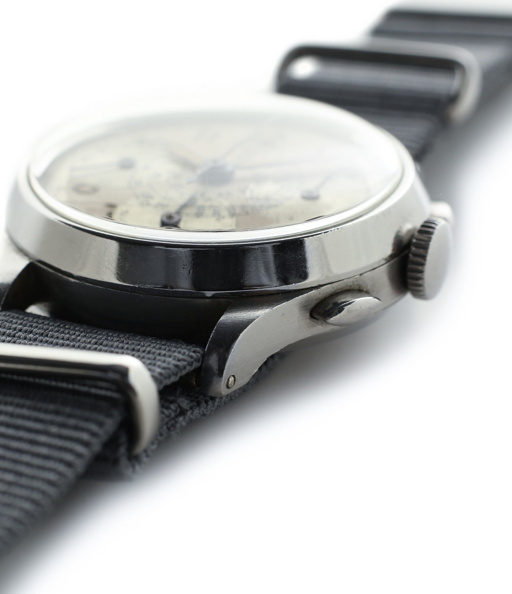 Heuer vintage Chronograph steel watch for sale online at A Collected Man London