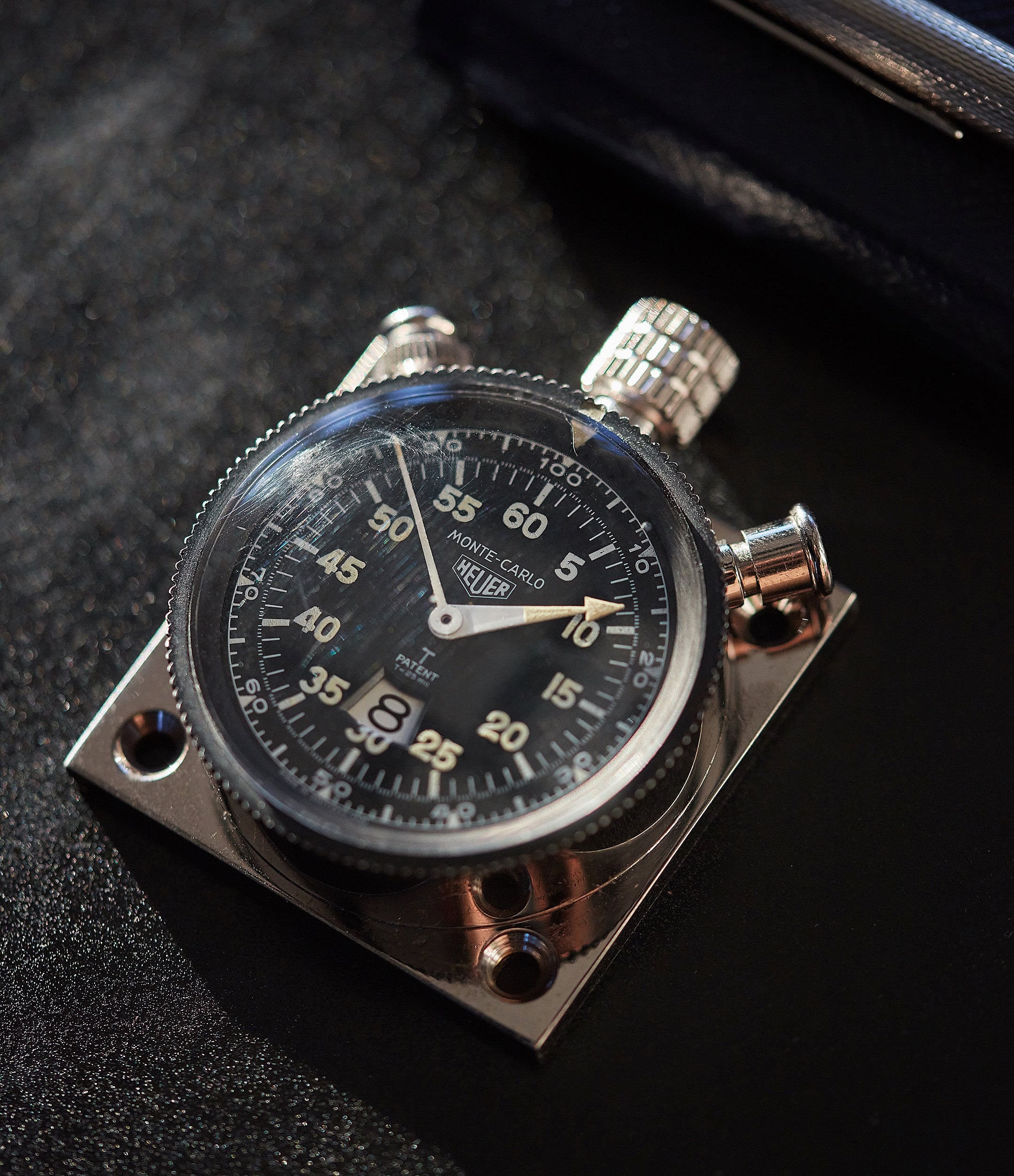 shop vintage Heuer Monte-Carlo Stopwatch Timer RAF-issued Broad Arrow chronograph for sale at A Collected Man London